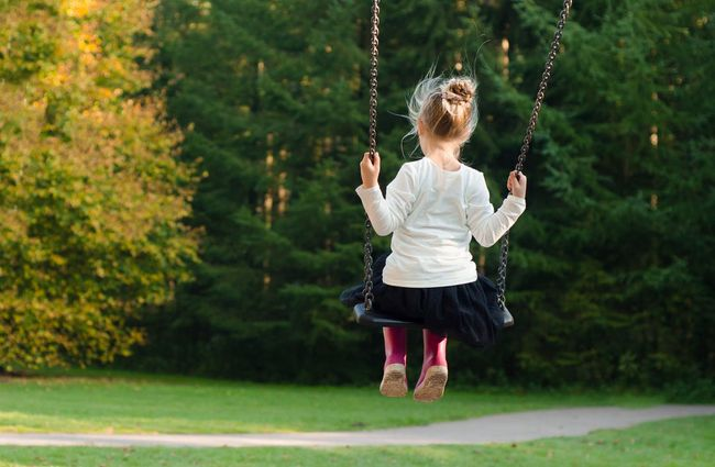 girl in the swing