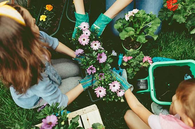 family-planting-kid-garden